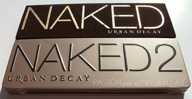 Packaging paletas Naked 1 y Naked 2