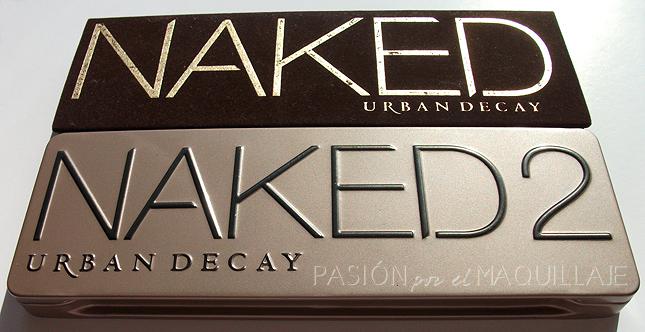 Packaging paletas Naked 1 y Naked 2