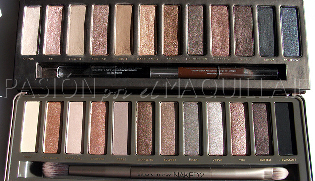 Paletas de sombras Urban Decay Naked 1 y Naked 2