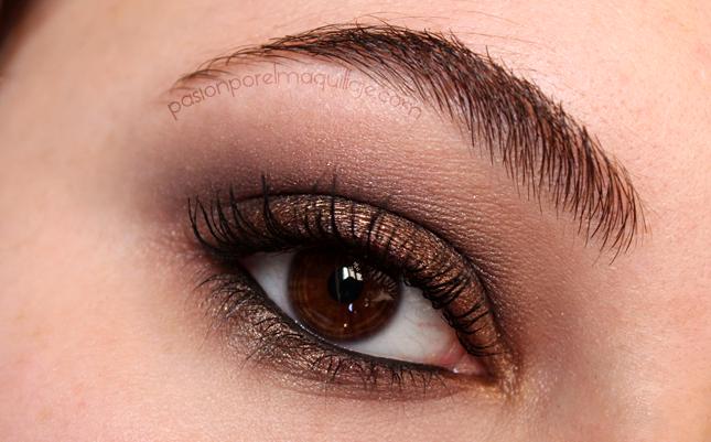 Ojos ahumados en color bronce
