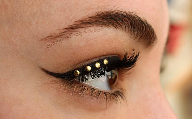 Delinear los ojos con tachuelas