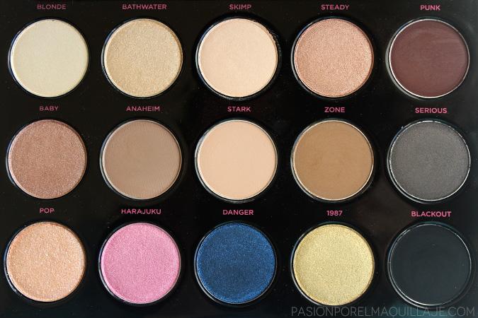 Sombras de la paleta Gwen Stefani