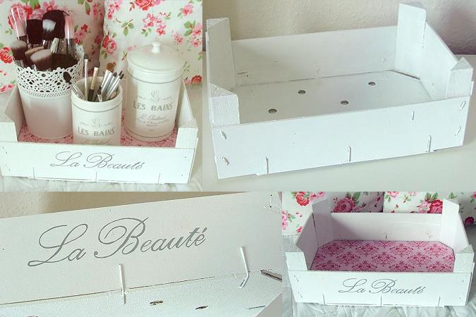 Cajas para decorar un tocador de maquillaje