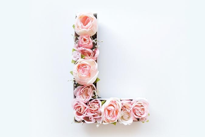 Letras de flores para el tocador