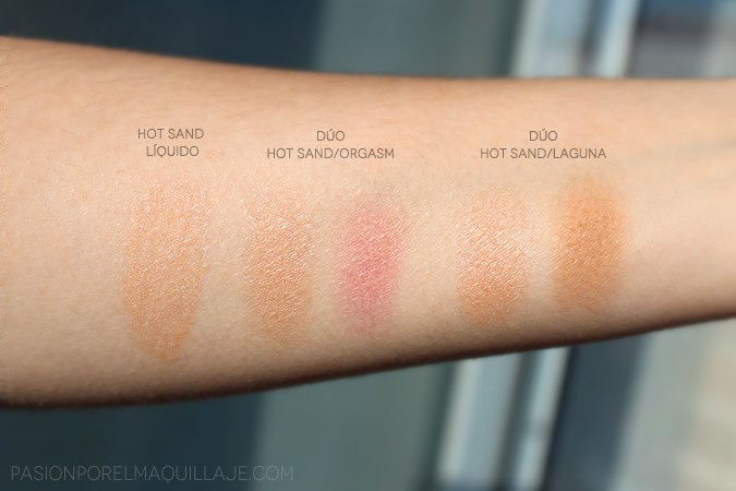 Nars Hot Sand swatches