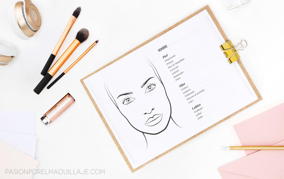 Imagenes De Maquillaje Para Descargar: Face Charts Para Imprimir ¡GRATIS!