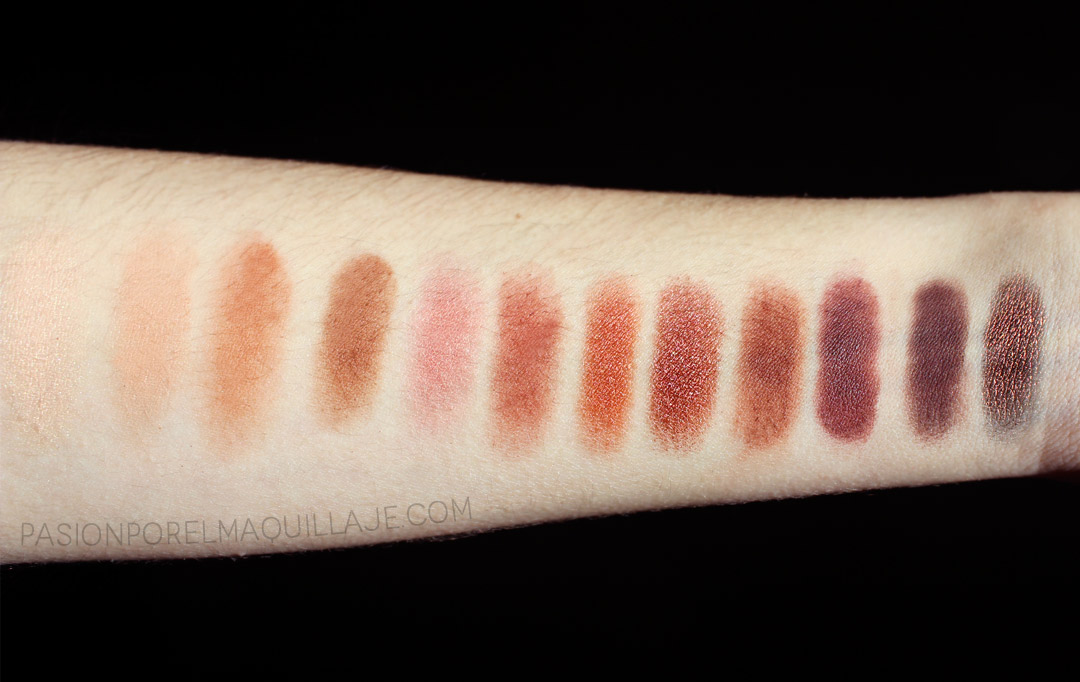 Swatches Naked Heat Urban Decay