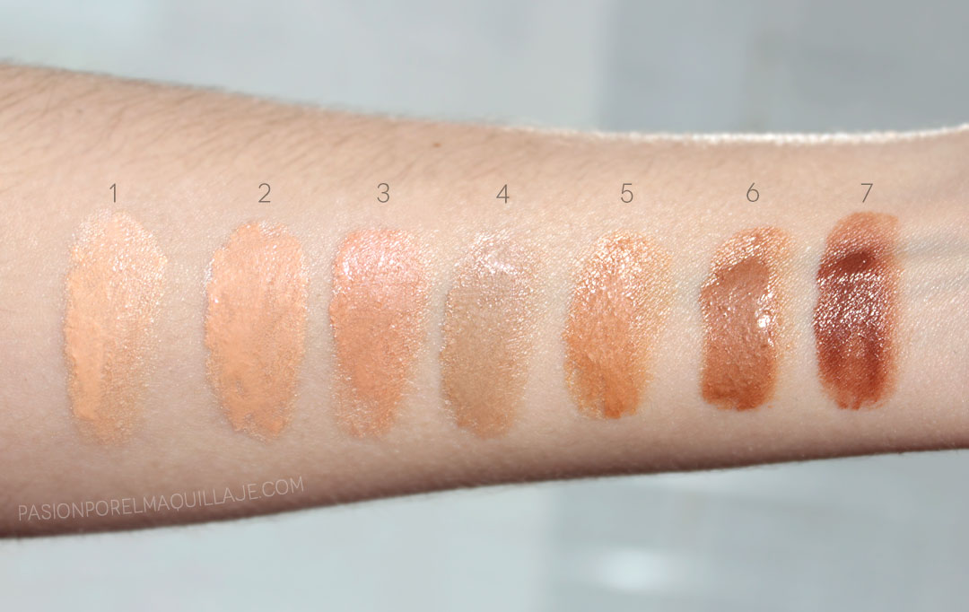 Hollywood Flawless Filter Swatches