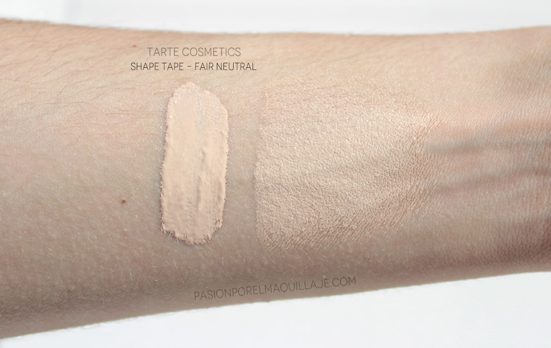 Tarte Shape Tape Tonos Swatches