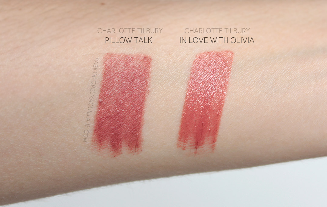 Pillow Talk vs. In Love With Olivia Lipstick